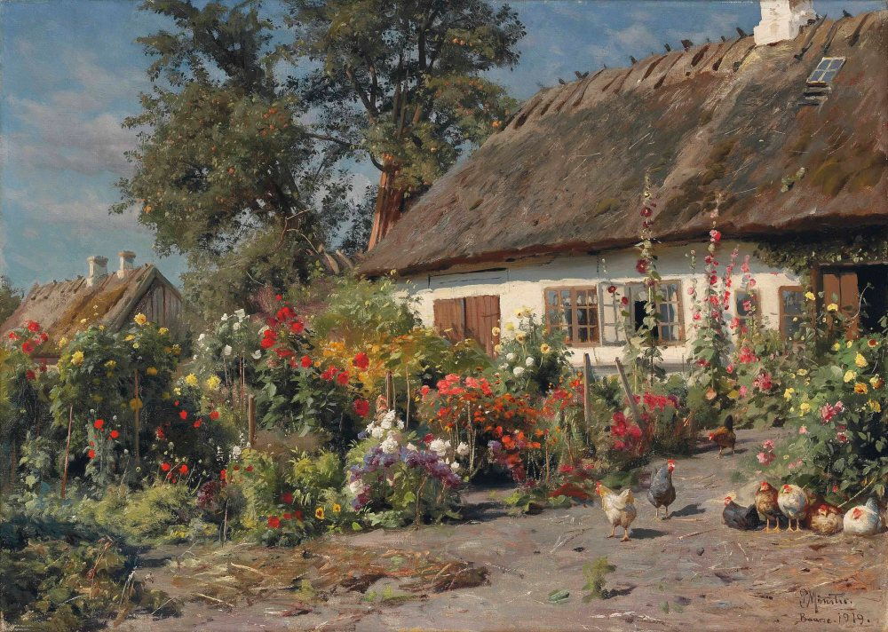 2012_NYR_02592_0032_000(peder_mork_monsted_a_cottage_garden_with_chickens)