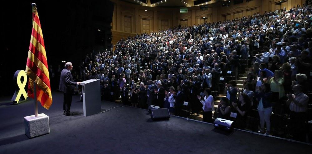 El president durant la conferència