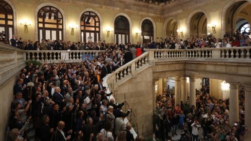 Alcaldes seguint el Ple bertran