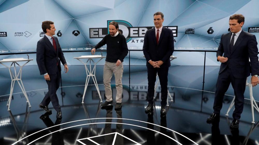 Candidatos a gobernar España afrontan segundo debate antes de las elecciones
