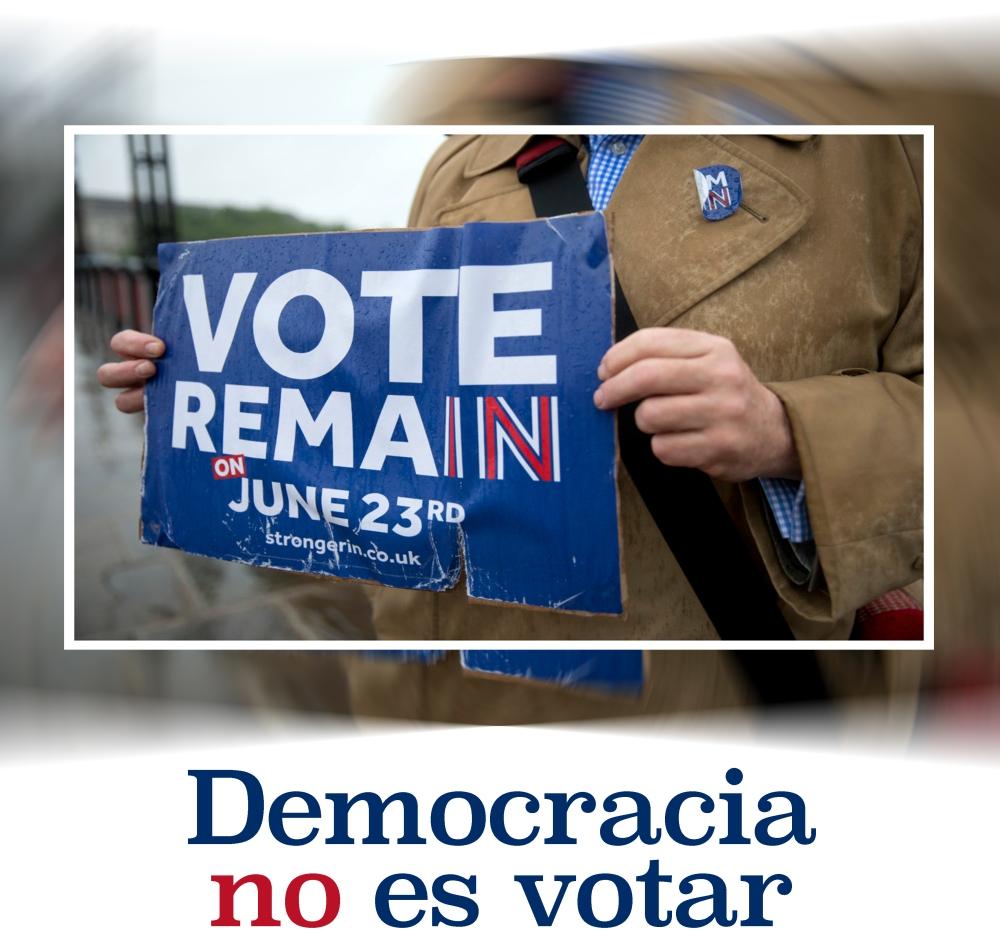 democracia no es