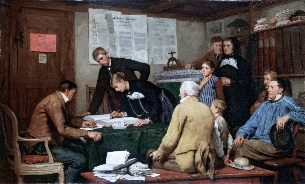 Albert_Anker_-_Die_Ziviltrauung_(1887)