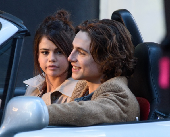 On Location with Untitled Woody Allen Project Featuring: Selena Gomez, Timothee Chalamet Where: New York, New York, United States When: 12 Sep 2017 Credit: WENN.com